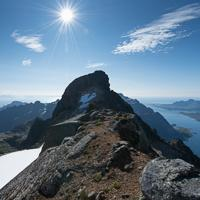 Geitgallien summit on the Lofoten Islands