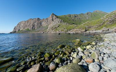 Bay of Stokkvika to the south of the Lofoten Islands (Norway)